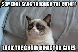 Someone sang through the cutoff