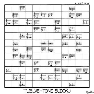 twelve tone sudoku